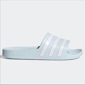 Adidas Adilette Aqua Slides Halo Blue Size 10